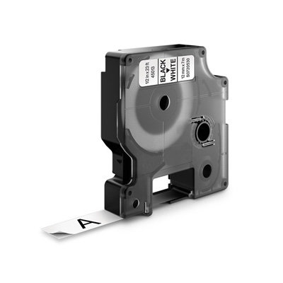 DYMO D1 45013 Labeltape Zwart op Wit 12mm (Huismerk)