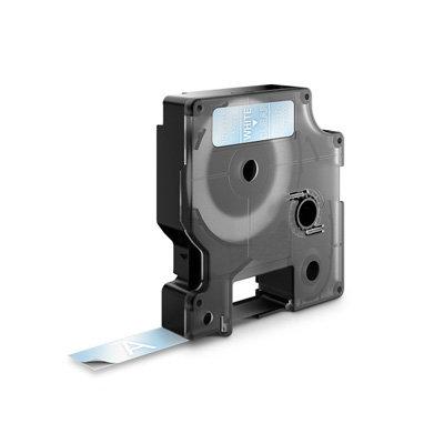DYMO D1 Lettertape 45020 Wit op Transparant 12mm (Huismerk)