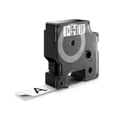 DYMO D1 Lettertape 45803 Zwart op Wit 19mm (Huismerk)