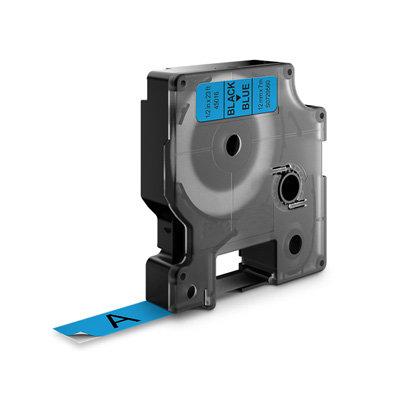 DYMO D1 Lettertape 45016 Zwart op Blauw 12mm (Huismerk)