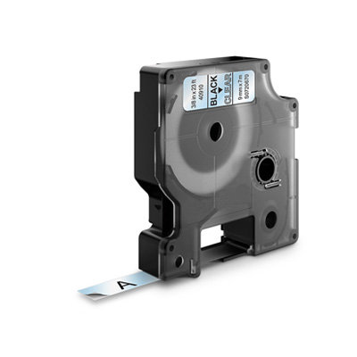 DYMO D1 Lettertape 40910 Zwart op Transparant 9mm (Huismerk)