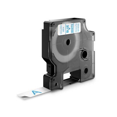 DYMO D1 Lettertape 45014 Blauw op Wit 12mm (Huismerk)