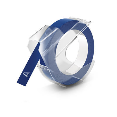 DYMO Embossing Lettertape Wit op Blauw 9mmx3m S0898140 (Huismerk)