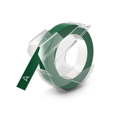 DYMO Embossing Lettertape Wit op Groen 9mmx3m S0898160 (Huismerk)