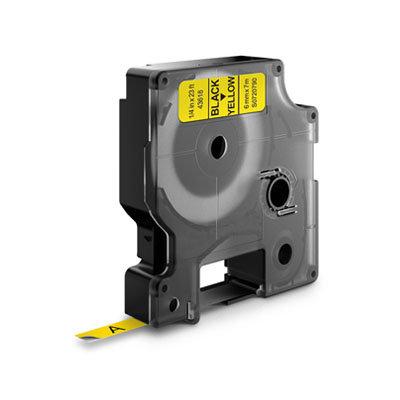 Dymo D1 Lettertape 43618 Zwart op Geel 6mm (Huismerk)