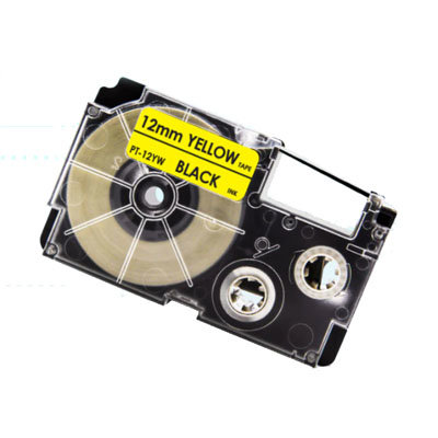 Casio XR-12YW Tape Zwart op Geel 12mm (Huismerk)
