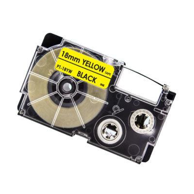 Casio XR-18YW Tape Zwart op Geel 18mm (Huismerk)