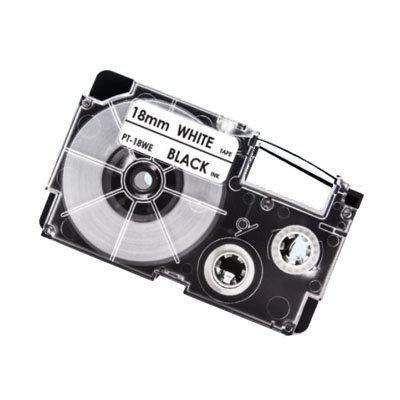 Casio XR-18WE Tape Zwart op Wit 18mm (Huismerk)