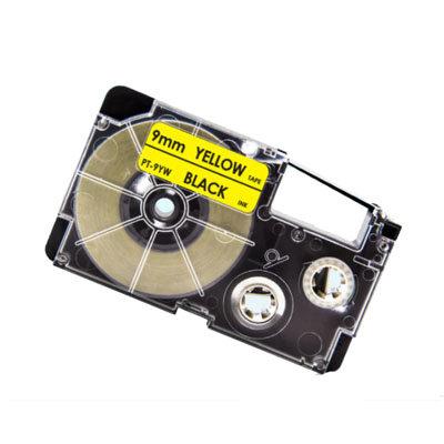 Casio XR-9YW Tape Zwart op Geel 9mm (Huismerk)