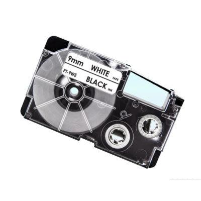 Casio XR-9WE Tape Zwart op Wit 9mm (Huismerk)