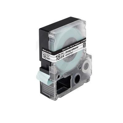 Epson LC5TBW9 (C53S626409) Tape Zwart Op Transparant 18 mm (Huismerk)