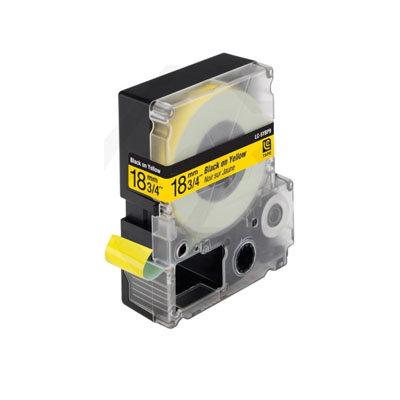 Epson LC-5YBP9 (C53S626401) Tape Zwart Op Geel 18 mm (Huismerk)