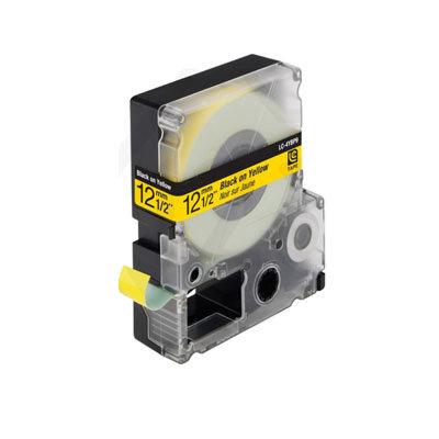 Epson LC-4YBP9 (C53S625403) Tape Zwart Op Geel 12 mm (Huismerk)