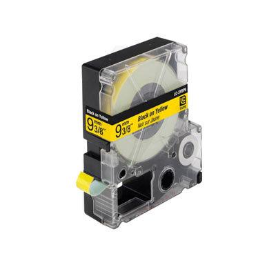 Epson LC-3YBP9 (C53S624401) Tape Zwart Op Geel 9 mm (Huismerk)