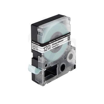 Epson LC-4TBW9 (C53S625410) Tape Zwart Op Transparant 12 mm (Huismerk)