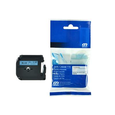Brother M-K521 Lettertape Zwart op Blauw 9mm (Huismerk)